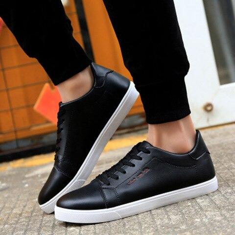 Men shoes new arrival sneakers men running shoes white pu comfortable breathable massage lace up men sports shoes male shoes Lahore