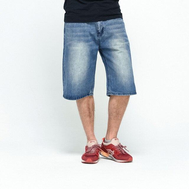 2017 große Größe 30-46 Sommer Herren Shorts Hip Hop Harem Denim Jeans  Boardshorts Amerikanische 91e41f89a0