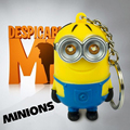 3D Minions Toys Cartoon Movie Despicable Me 2 Mini Minion Keychains Doll PVC Action Figure Toys Christmas Gift  m150