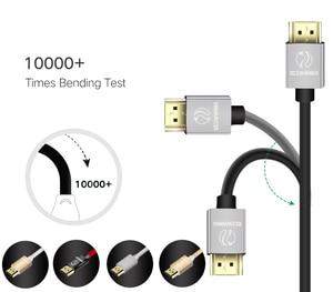 Image 3 - ANNNWZZD Cable HDMI 2,0 4K 1080P HDMI a HDMI Cable 5m 1m 10m Cable HDMI adaptador 3D para TV LCD ordenador portátil PS3 proyector