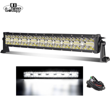 CO LIGHT Super Bright 3-Rows 390W Led Light Bar Car 22inch for 4WD ATV Trailer Trucks LED Work Driving Offroad 12V