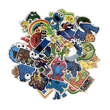 50pcs/lot Sesame Street stickers creative Suitcase stickers for Laptop Luggage Bags Bike Phone Cool Sticker(China)