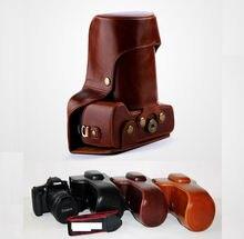 Nueva Pu Leather Camera Case Bag Para Canon EOS 5D2 5D3 5D4 5DS Caso SLR DSLR 5D Mark III 5D Mark IV 5DR de Alta calidad