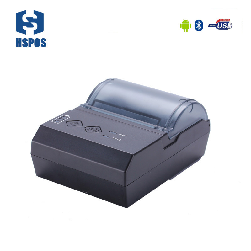 Portable 2 inch android bluetooth printer mini mobile thermal receipt printer HS-E20UA China billing printing machine 2 inch mini pos thermal printer with usb rs232 interface small size and light weight design special for bus billing printing