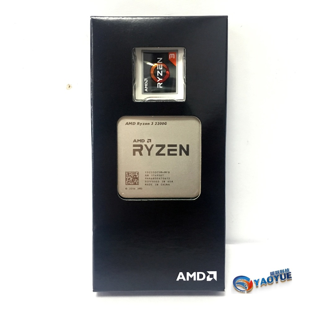AMD Ryzen 3 2200G PC Computer Quad-Core processor AM4 Desktop Boxed CPU ...