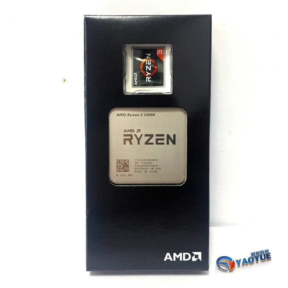 AMD Ryzen 3 2200G PC Ordinateur Quad-Core processeur AM4 Bureau En Boîte CPU