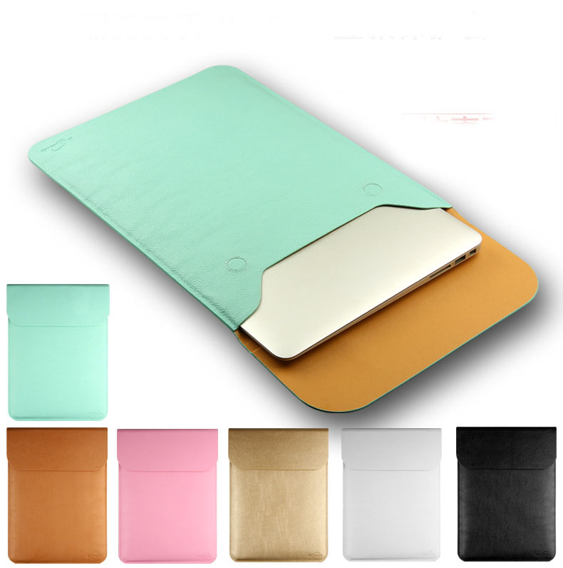 SIBAINA PU Leather For MacBook Air Pro Retina 11 12 13  inch Laptop Bag Case Sleeve Notebook Carry Bag For Macbook Case Pouch