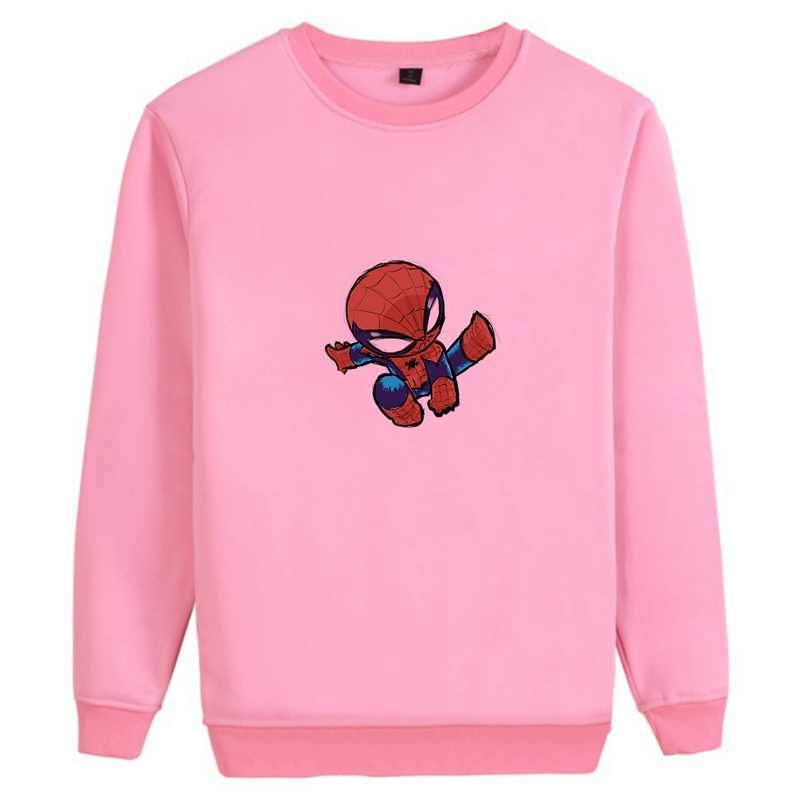Marvel Captain Thor Spider-Man Avengers hero Personalise O-NECK Cotton Sweatshirts Teen Casual Unisex Athletic Shirts A193291