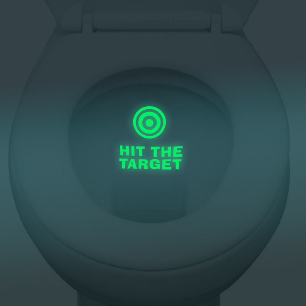 ộ_ộ ༽HIT THE TARGET Toilet Toilet Stickers Waterproof ...