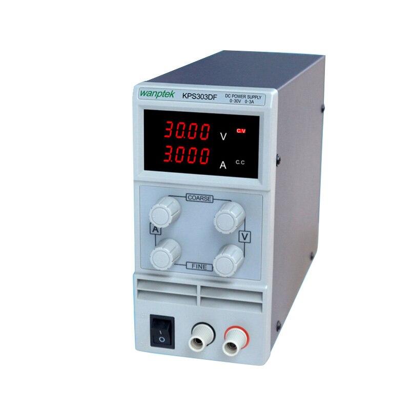 ФОТО KPS303DF 30V3A 110V-230V 0.1V/0.001A EU LED Digital Adjustable Switch DC mA display