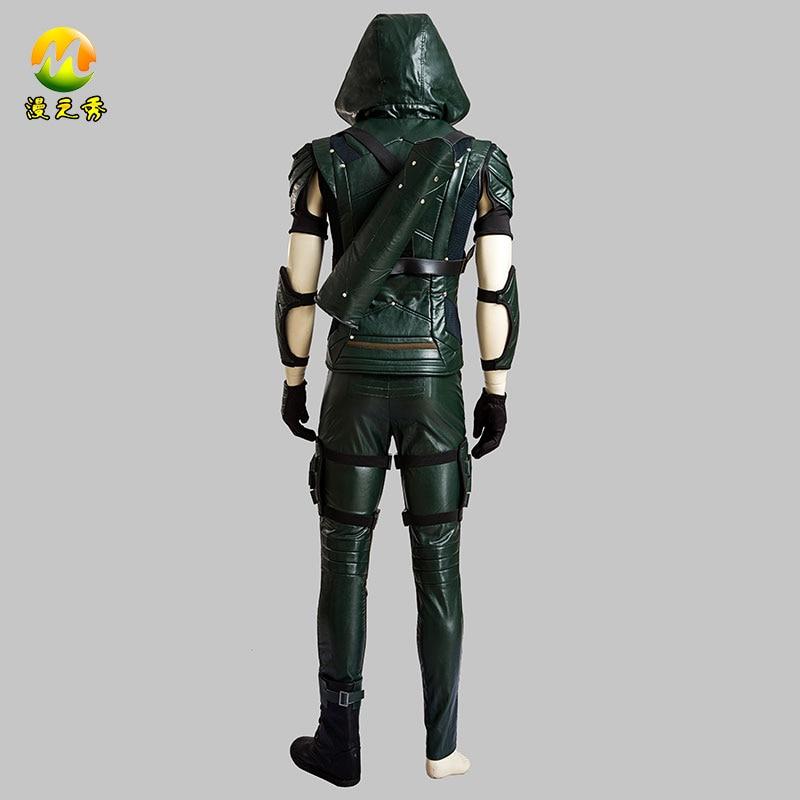 Calidad superior Flecha Verde Temporada 4 Oliver Queen Cosplay - Disfraces - foto 4