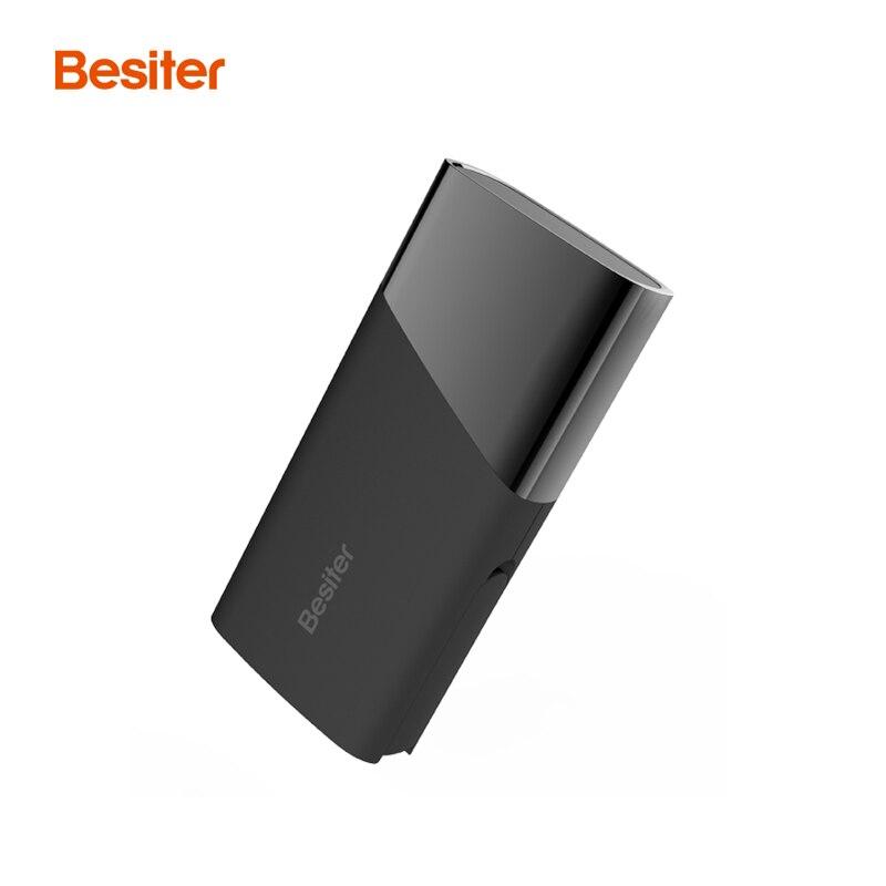 Besiter 5000 mah Portable Batterie Externe Chargeur Avec LCD Power Bank Pour Téléphones Intelligents Dual USB Port Chargeur de Batterie