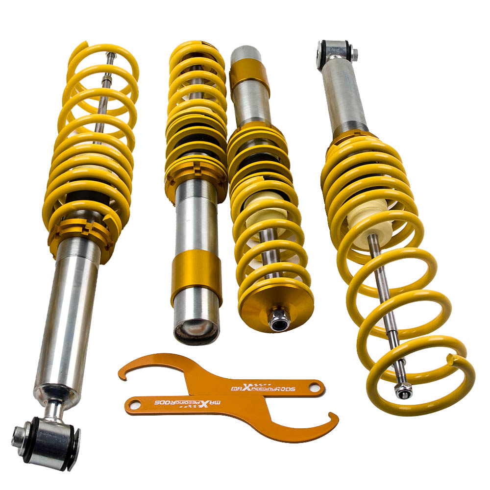 Adj Height Coilover Kit for 97-03 BMW E39 5-Series Sedan Shock Absorbers Yellow