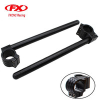 FXCNC CNC Adjustable Black Universal Racing Regular Clip On Handlebar Fork Handle Bars 31mm 33mm 35mm