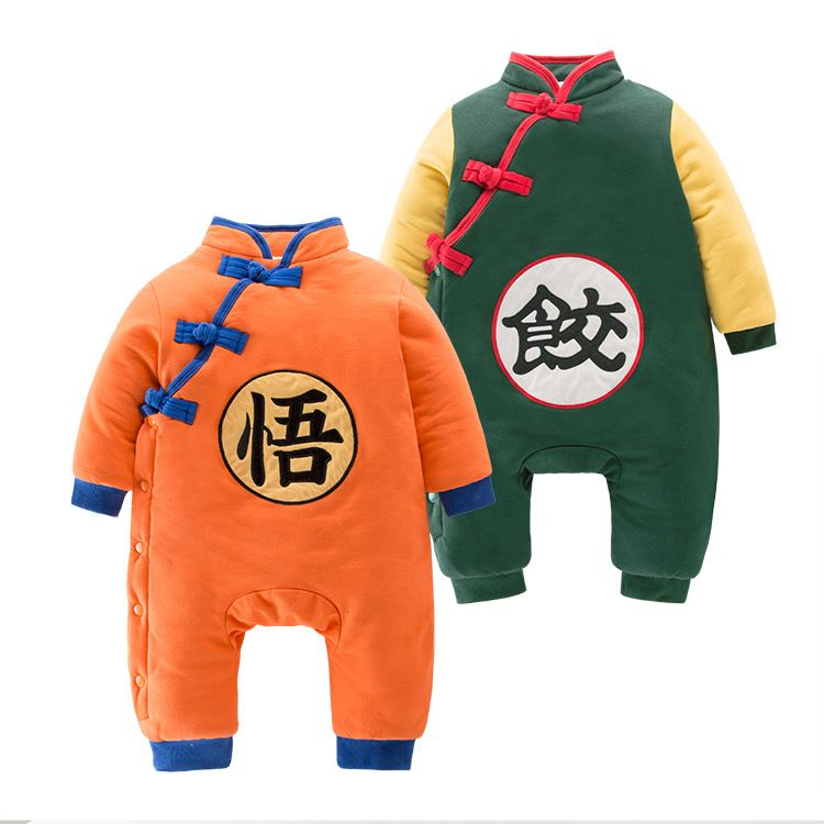 Autumn Winter thick Dragon Ball Children Jumpsuit son goku cosplay overalls Halloween Costumes Clothes For Baby 010302