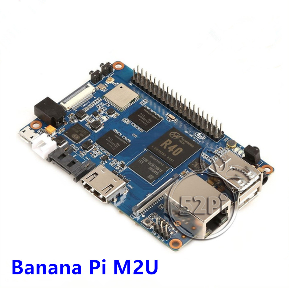 купить Banana Pi M2U BPI-M2U BPI-M2 Ultra R40 Quad-Core 2GB RAM with SATA WiFi Bluetooth 8GB eMMC demo Single Board and 1pcs3dB Antenna в интернет-магазине