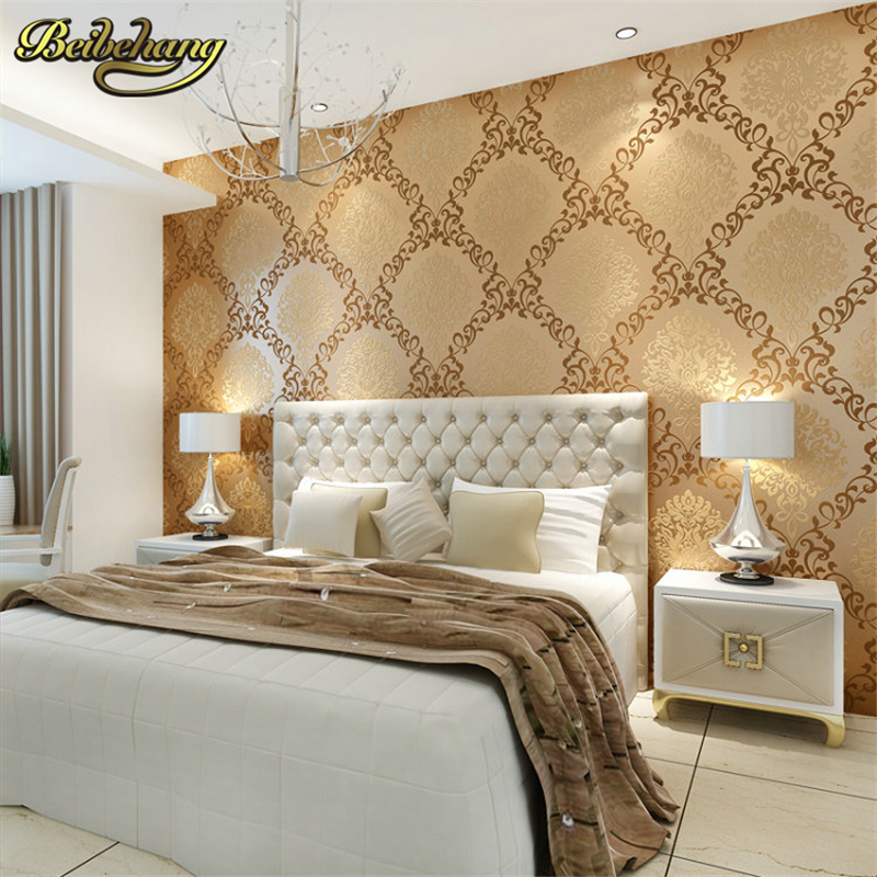 beibehang mural wall contact paper European living room wallpaper bedroom sofa tv backgroumd of wall paper roll papel de parede simfer h60q40w411