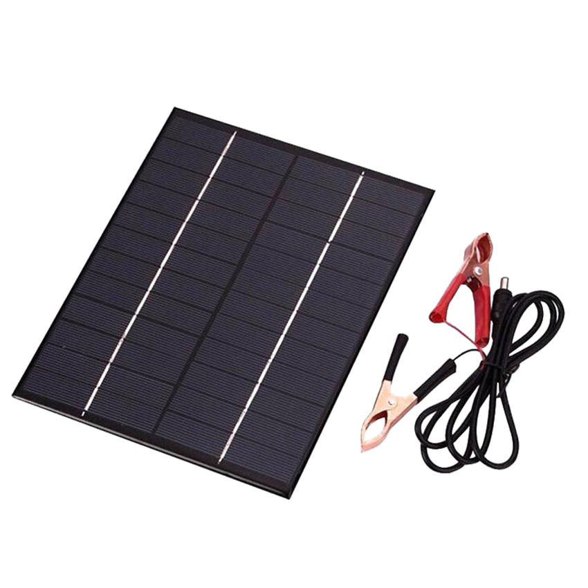 12V 5.2W Solar Panel Portable Outdoor Polycrystalline Solar Cells Silicon Epoxy Solar DIY Module System Battery Charger + DC out