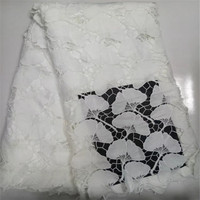 YD!2017 Latest White African French Lace Net Fabric High Quality Nigeria Lace Fabrics For Wedding ! J61919