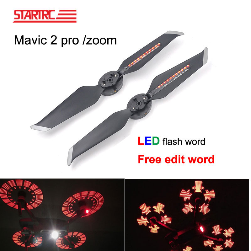 DJI Mavic 2 LED Flash Word Propellers programmable pattern paddle Quick Releas For DJI Mavic 2