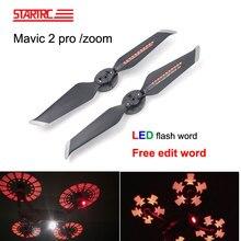 DJI Mavic 2 LED Flash Word Propellers programmable pattern paddle Quick Releas For DJI Mavic 2 Pro Zoom Drone Accessories