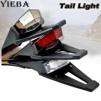 Motorcycle Fender Flares Rear Tail Stop Brake LED Light Reflector Universal For MX Motocross Sport Pit Dirt Motorbike