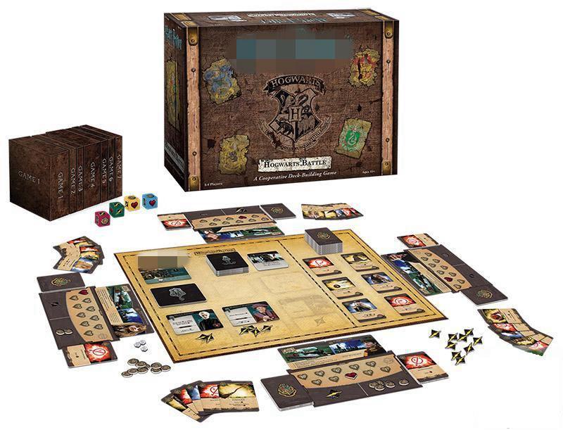Harri Potter poudlard bataille coopérative pont bâtiment édition anglaise officielle jeu de sorcellerie cartes de Collection jouet cadeau
