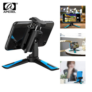 Image 1 - APEXEL 360 Rotation Camera Tripod Portable Stretch Handheld Tripod With Bluetooth Mobile Phone Clip For Gopro xiaomi iPhone
