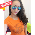 Fashion summer 2016 g rhinestones o-neck slim women's short-sleeve T-shirt female short-sleeve