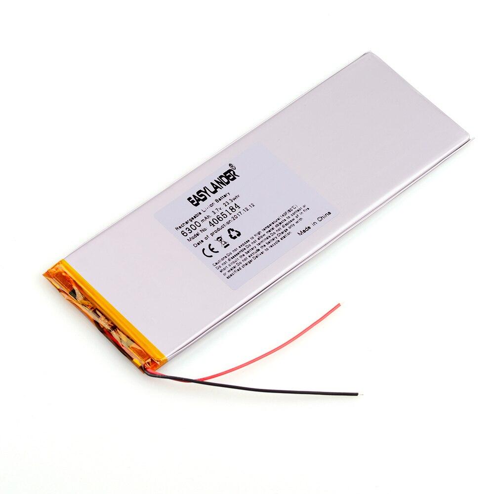 4065184 3.7V 6300mAh Rechargeable li-Polymer Battery For Power Bank 9 10 Tablet PC Speaker MID electronics 3865185
