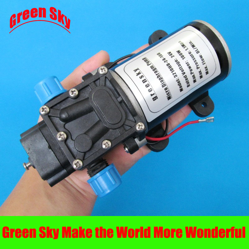 160PSI 8L/Min DC 100W car washing,chemical equipment,lawn and garden irrigation use micro diaphragm pump 24v
