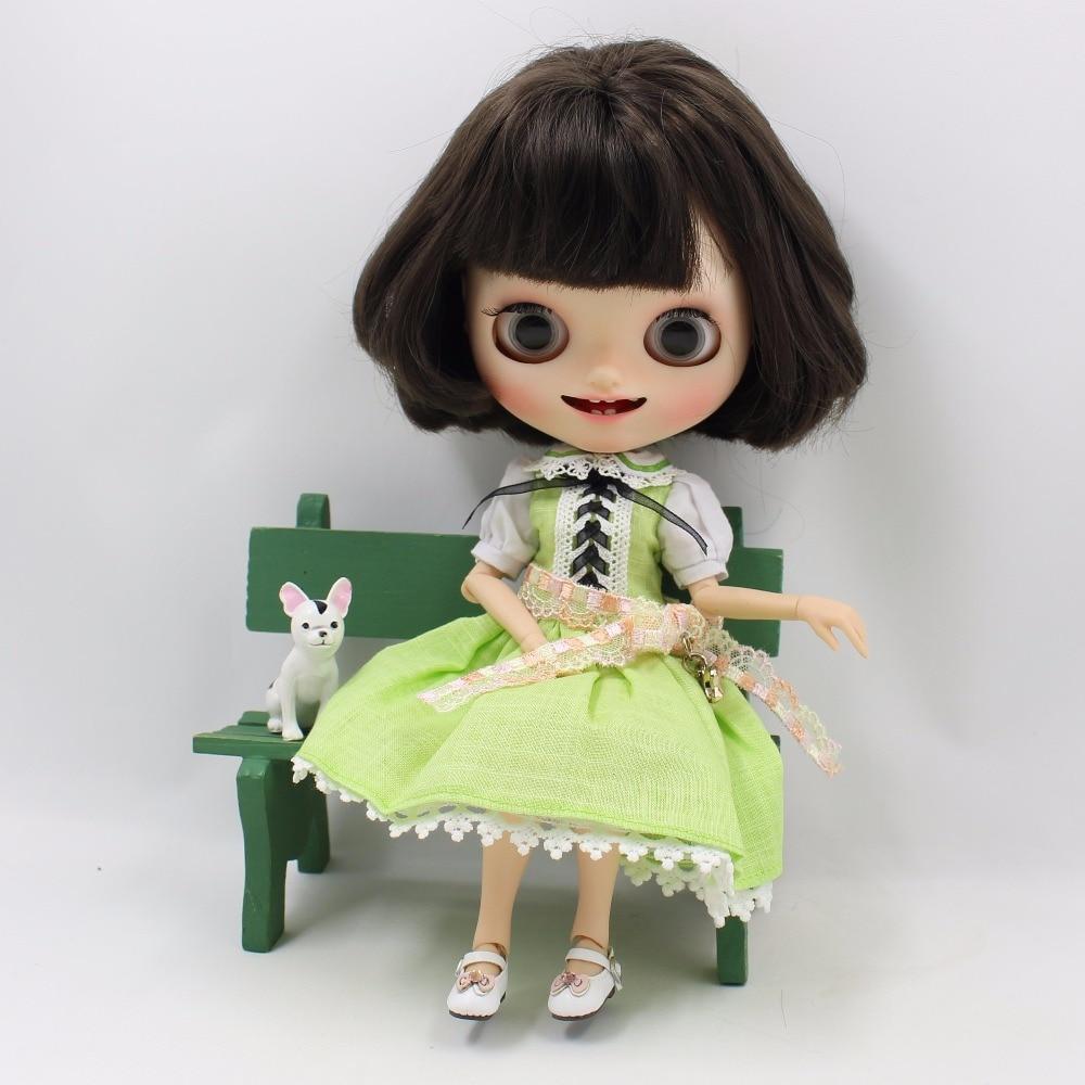 Neo Blythe Doll Green Dress 2