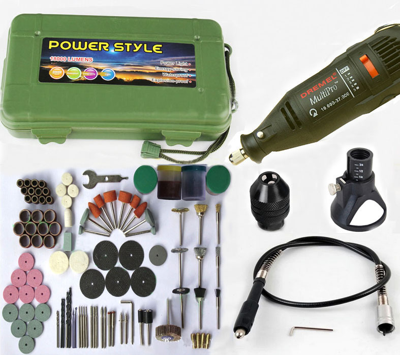 Free Shipping 220V 125 W Electric Variable Speed Dremel Rotary Tool Mini Drill with Flexible Shaft and 168 pcs Accessories tasp 220v 130w electric dremel rotary tool variable speed mini drill with flexible shaft and 175pc accessories storage bag
