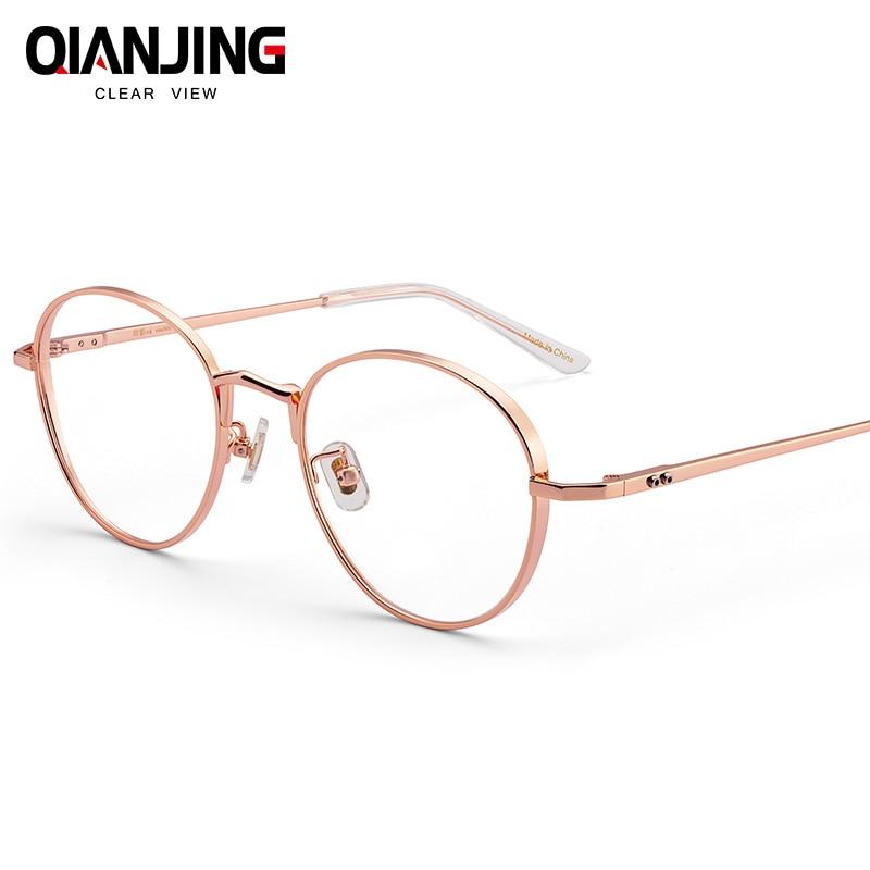 647c3b4d87 Detail Feedback Questions about QJ Titanium Glasses Frame Women Ultralight Brand  Designer Male Vintage Round Prescription Eyeglasses Full Optical Frames ...