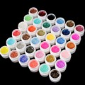 New Brand Makeup 36 Colors Nail Art UV Gel Colorful Glitter Powder Nail Gel Excellent Gel Nail Polish #NP136