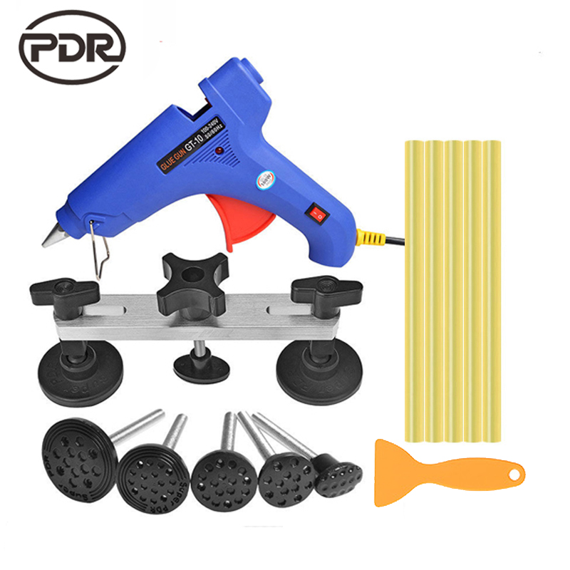 PDR Tools Kit Dent Removal Paintless Dent Repair Tools Car Body Repair Kit Bridge Puller Glue Rods Auto Tools For Dent sony cyber shot dsc rx100m3 компактный цифровой фотоаппарат lcj rxf black чехол для фотоаппарата