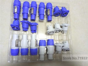 Image 3 - 10sets =5sets blue+5sets gray PowerCON Type A NAC3FCA+NAC3MPA 1 Chassis Plug Panel Connector