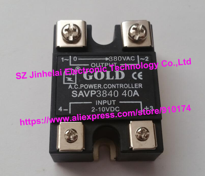New and original SAVP3840 GOLD Single-phase Solid state relay PROPORTIONAL POWER CONTROLLER 380VAC 40A new and original sa366250d sa3 66250d gold 3 phase solid state relay 4 32vdc 90 660vac 250a