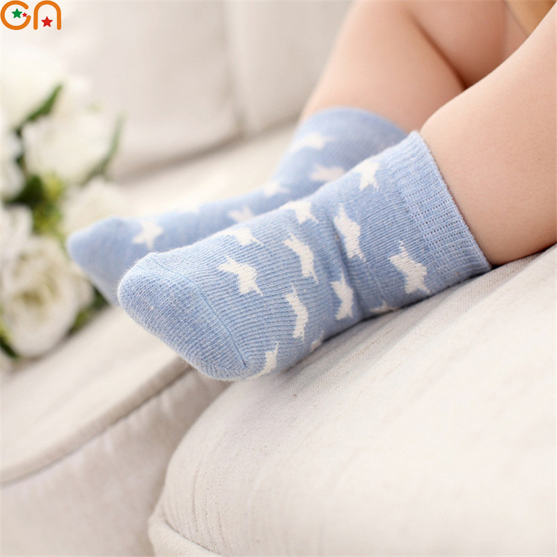5 Pair/Lot Kids Soft Cotton Socks Boy Girl Baby Cute Cartoon Warm Stripe Fashion Sport For Spring Summer Autumn Winter Children 4