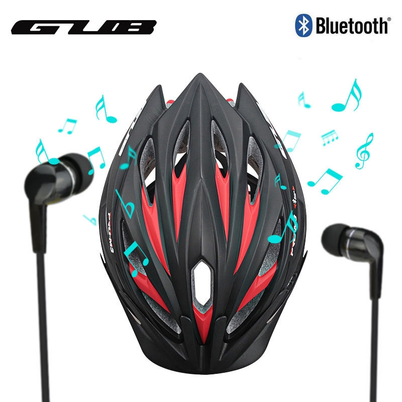 GUB Intelligent <font><b>Bluetooth</b></font> Bicycle Helmet Integrally-molded MTB Road Bike Casque <font><b>Velo</b></font> Route 2017 With Hand-Free Phone Call Music