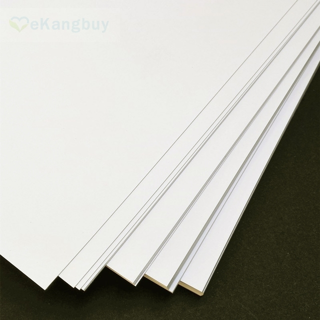 50sheets a4 white black paper card matte paperboard card making
