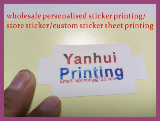 Wholesale Personalised Sticker Printing Store Sticker Custom Sticker