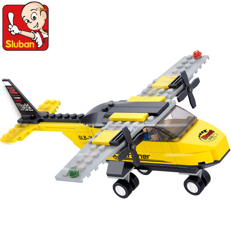 model building kits compatible with lego city plane 435 3D blocks Educational model & building toys hobbies for children