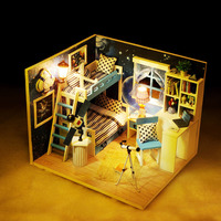 Dollhouse DIY House Modle 3D Assemble Toy Birthday Gift For Children Adult Friends NSV775