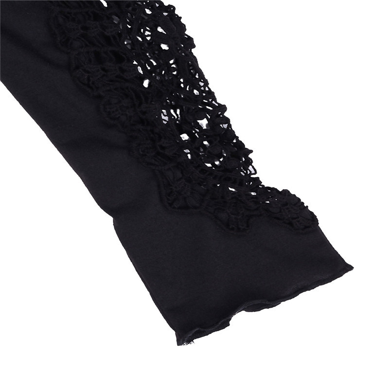 HTB1iv74LXXXXXbdXVXXq6xXFXXXf - Autumn Womens Style Lace Long Sleeve Hollow Solid