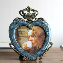 5-inch metal photo frame wedding Crown heart-shaped baby gift decoration