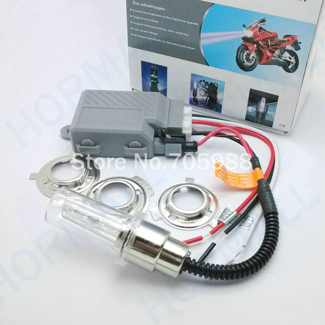 HOT Motorcycle Integration Of H6 p15d Hid Xenon Lamp 35w Hid Conversion Kit moto hid high and low beam Hi/Lo hid lights H4 H6M hot sale high quality auto xenon hid conversion kit 12v 35w h4 hi low dual beam 10000k freeshipping
