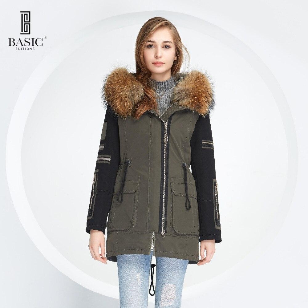cc3cb62324094 ᐅDe base Vogue Femmes D hiver Deux Pièces Amovible Shell Fourrure ...