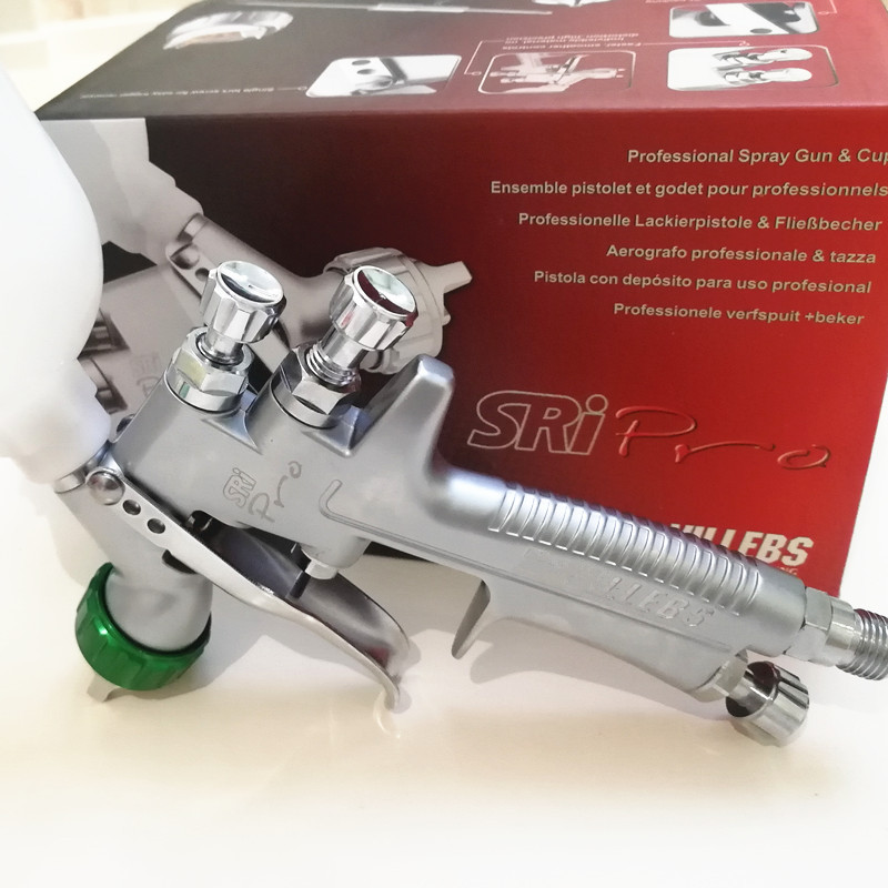 SPRAY GUN HVLP  1.2mm  paint spray gun   SRI PRO  Gravity Feed Paint pot volume 250ml mini paint sprayer