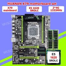 HUANAN V2.49 X79 motherboard CPU RAM combos Xeon E5 1620 SROLC CPU (2*4G)8G DDR3 RECC memorry all good tested 2 years warranty